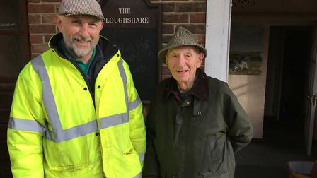 Wayne Ward, 61, and Bill White, 91, at the Ploughshare pub in Beeston, which is being refurbished by