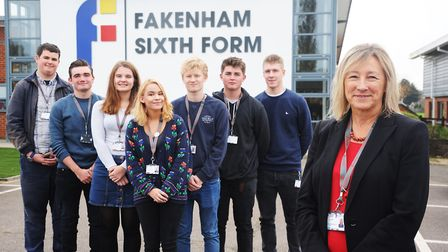 The official opening of the new Fakenham Sixth Form. Pictured with assistant head Lianne Higgins are