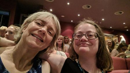 Ruth Cordle enjoying a night out at the theatre with her mum Nicola. Ruth, 27, will now be able to a