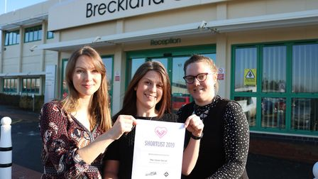 The Silver Social team at Breckland Council celebrate national recognition for their unique project