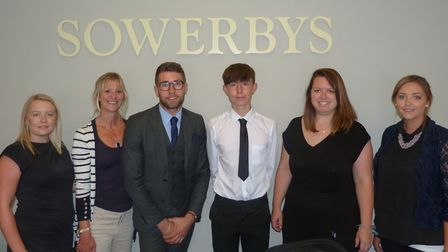 Pupils at Neatherd High during work experience in July 2018. Pictured is Cain Hobbs at Sowerbys. Pic