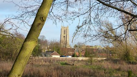 Fakenham Church In The Distance Taken From The River