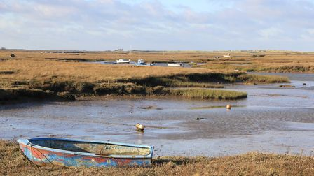 A sunny day on the marshes at Burnham Deepdale. Picture: Simon Bamber