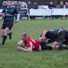 Action from Fakenham's victory over North Walsham II at the weekend. Picture: Mike Wyatt