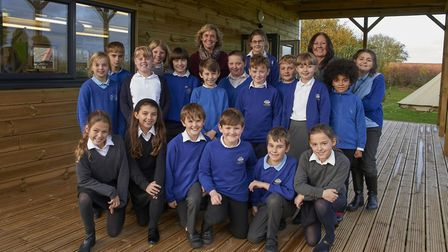 Staff and pupils at Langham school. Pictures: Heather Woodhouse