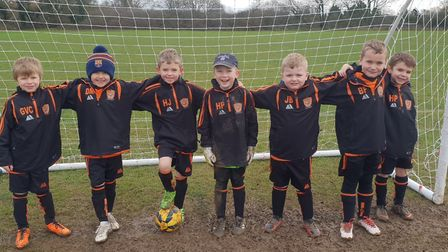 Bawdeswell Youth F.C, The Bombers, are on the hunt for new members. Pictured is the under 8s team. P