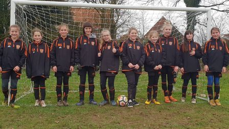 Bawdeswell Youth F.C, The Bombers, are on the hunt for new members. Pictured is the under 12s all-gi
