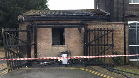 Fire damaged the Fakenham Connect offices. Picture: Kathryn Cross