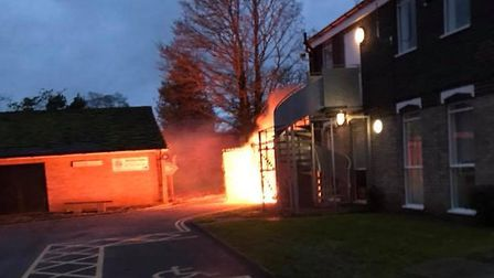 A fire broke out at the Fakenham Connect offices on Oak Street. Picture: Amy Hammond