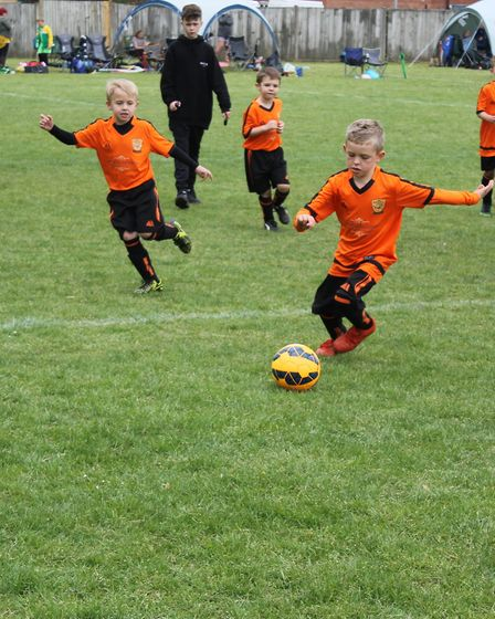 Bawdeswell Youth F.C, The Bombers, are on the hunt for new members. Pictured is the under 8s team in