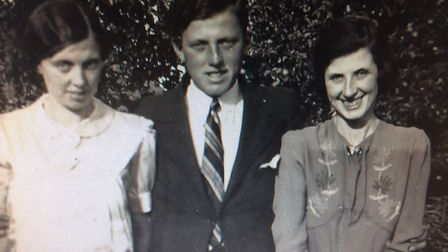 Charles Greves with his sisters Ivy and Elsie - circa 1938. Picture: Supplied by Malcolm Greves