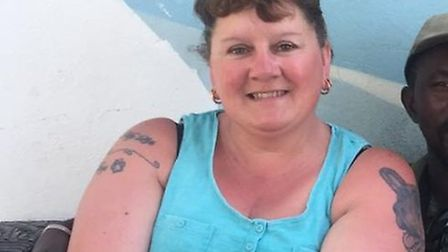 Diane Joyce, of Norfolk, has lost nearly five stone and dropped three clothes sizes (pictured before