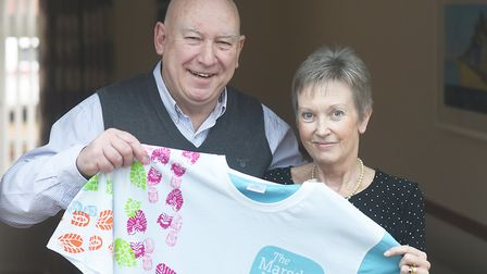 Liz Johnson and her husband John who is planning to take part in a charity walk to raise money for t