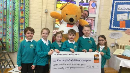 Dereham Church Infant and Nursery School collected £761 over the Christmas period which will go towa