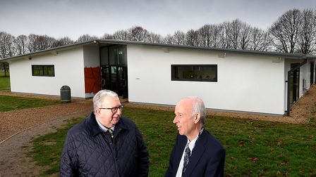 Opening of the new eco-classrooms at Reepham High School and College in 2016. Keith Simpson MP, left
