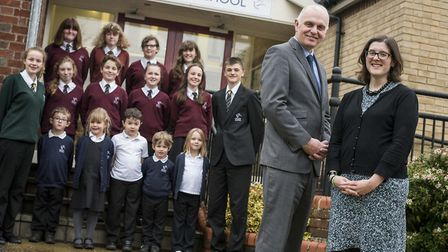 Litcham School and Litcham Primary School received a 'Good' ofsted report in 2015. From front left,