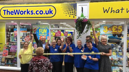 The Works will be opening a shop in Dereham. Pictured are staff celebrating at the opening of The Wo