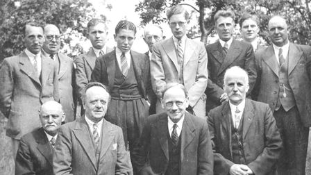 The Wells Discussion Group in 1939, with founder Sam Peel, front 3rd left.Photographer: SubmittedCop