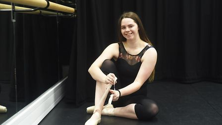 Lauren Lloyd is trying to raise tuition fees to attend dance school. Picture: Ian Burt