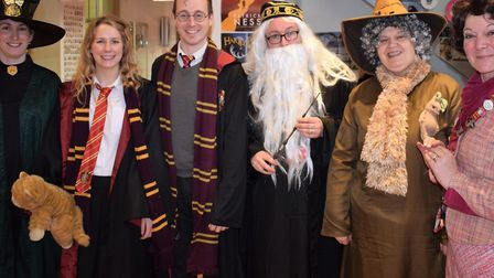 Staff and students at Dereham Neatherd High School celebrate World Book Day 2019.