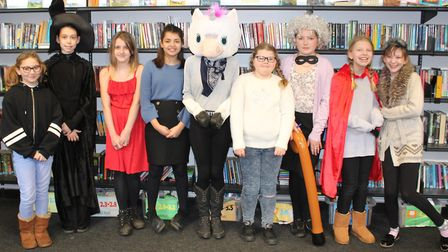 Year 7 students celebrate World Book Day 2019 at Northgate High School. Photo: Northgate High School