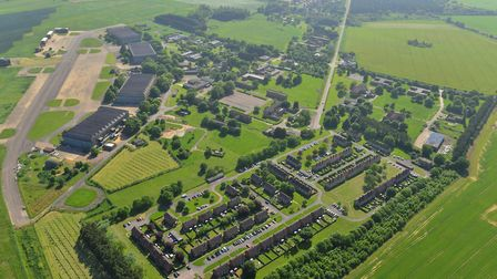 An aerial view of the site at West Raynham. Picture: FW PROPERTIES.