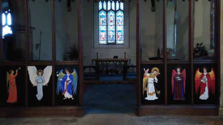 Angels at St Mary's in Colkirk. Picture: Vanda Richards