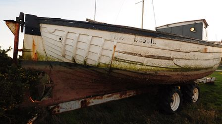 The whelker, Bessie, when she was at Morston quay awaiting work.
