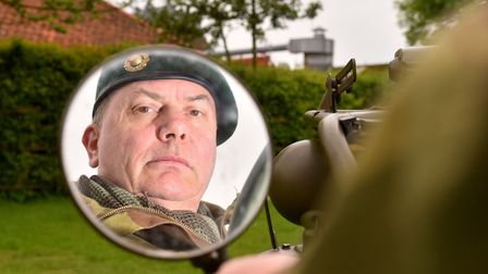 Steve Thomas from the 47 Royal Marines commando reenactment group at the 1940's wartime weekend in B