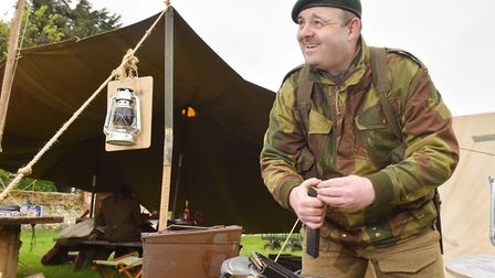 Keith Billington from the 47 Royal Marines commando reenactment group at the 1940's wartime weekend