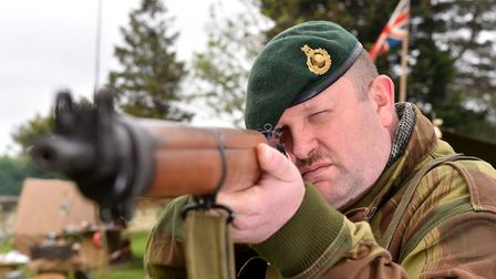 Dave Steer from the 47 Royal Marines commando reenactment group at the 1940's wartime weekend in Bur