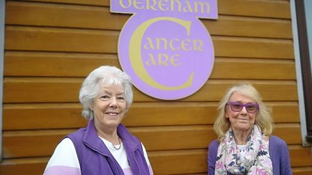 Dereham Cancer Care based in Dereham. (Right to left) Pictured is its founder Janet Money with long-