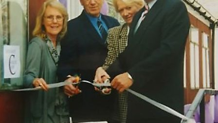 Dereham Cancer Care based in Dereham. Pictured is its founder Janet Money (far left) with patron Bri