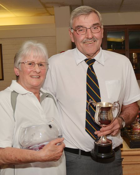 Husband and wife, Pauline and David Frost, who were awarded, respectively, the Vera Wright Rose Bo