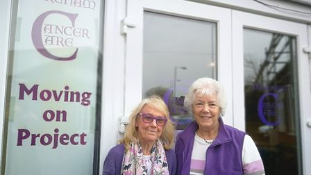 Dereham Cancer Care based in Dereham. (Left to right) Pictured is its founder Janet Money with long-