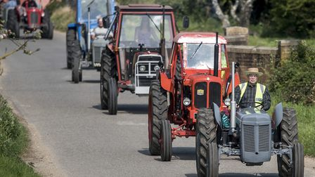 Scenes from the the Wighton scarecrow and tractor run from 2016. Picture: Matthew Usher.