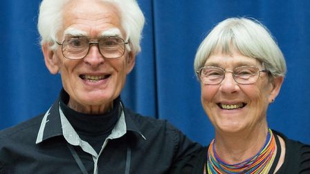 David and Joolz Saunders, initiators of Screen-next-the-Sea. Picture by Linda Gower