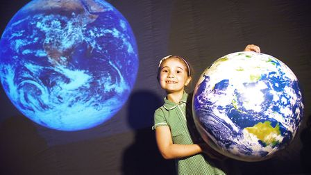 Year 2's at Fakenham Infant & Nursery School are learning about space. Picture: Ian Burt