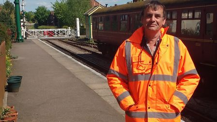 Paul Young, project officer for Norfolk Orbital Railway. Picture: PAUL YOUNG
