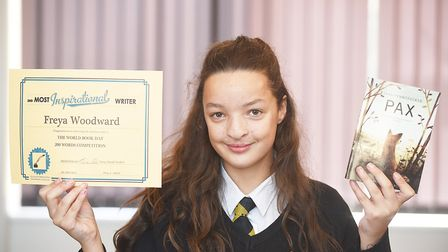Fakenham Academy Year Eight student Freya Woodward who wrote a story in the World Book Day 200 words