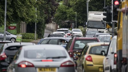 A typical scene of busy traffic on Tavern Lane, Dereham. Picture: ARCHANT
