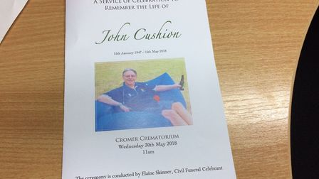 A service of celebration was held to remember the life of John Cushion. Picture: David Bale