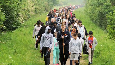 More than 400 childen and adults joined in the Children's Pilgrimage and mass at Walsingham. Picture