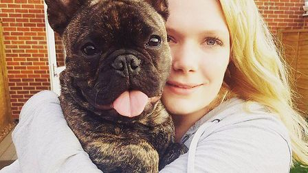 Isabelle Tabrett and her dog, Franco.Pictures: supplied by Miss Tabrett