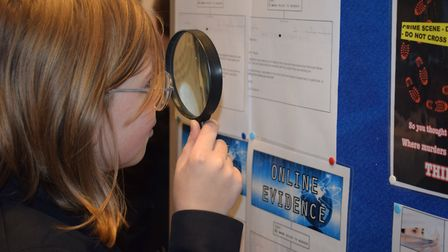 Dereham Neatherd High School students celebrated British Science Week by solving a murder mystery in
