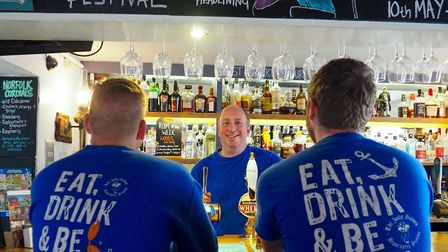 The team at the Jolly Sailors. Picture: Simon Parkin