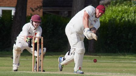 Fakenham's man of the match Keegan Monahan-Fairlie in full flight against Diss on Saturday Picture: