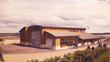 This is how the new RNLI boathouse at Wells will look. Picture: Ian Burt