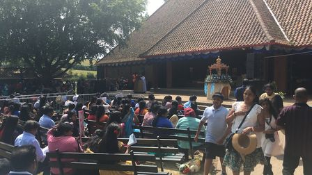 A scene from the Tamil pilgrimage day in Walsingham. Picture: STUART ANDERSON
