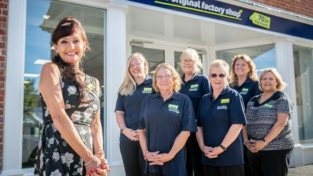 The Original Factory Shop staff at the grand re-opening of the Aldiss building in Fakenham. Picture: